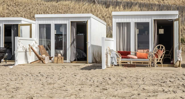 Beach houses The Netherlands, beach house Amsterdam beach | Ajuma strandkamers