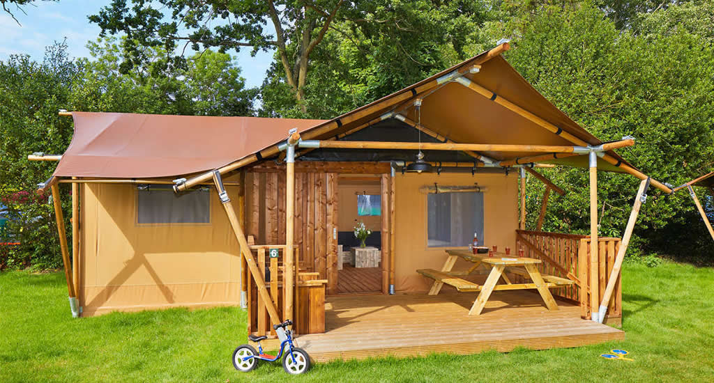 Glamping Holland, lodge tent Duinrell | Your Dutch Guide